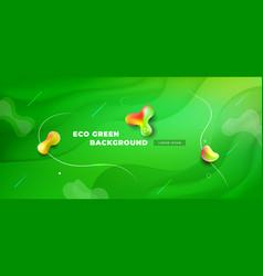liquid green color background design fluid green vector image