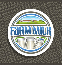 Logo for farm milk vector
