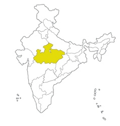 madhya pradesh vector image
