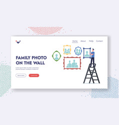memory photography home collection landing page vector image