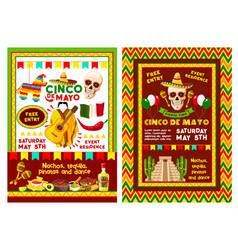 Mexican cinco de mayo party invitation banner vector