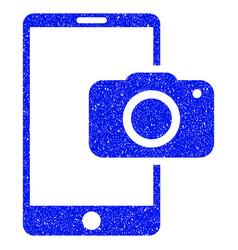 Mobile camera grunge icon vector