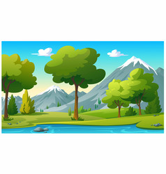 mountains and bright sky in morning vector image