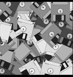 Old tech disks wallpaper vector