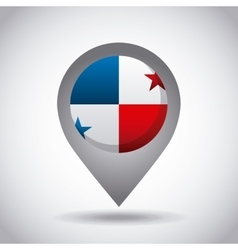 panama flag pin vector image