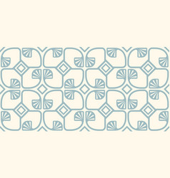 pattern with abstract geometric plants vector image