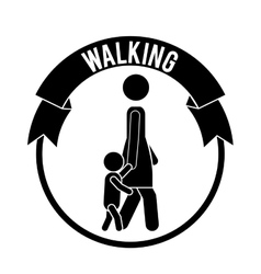 People walking design vector