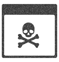 Poison Skull Calendar Page Grainy Texture Icon vector