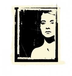 portrait silhouette vector image