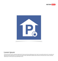 Reserved parking place icon - blue photo frame vector