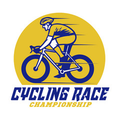 Roadbike cycling race championship event badge vector