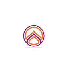 round line colored logo vector image