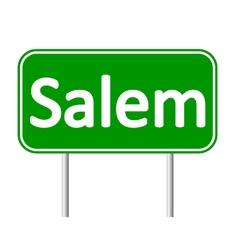 Salem green road sign vector