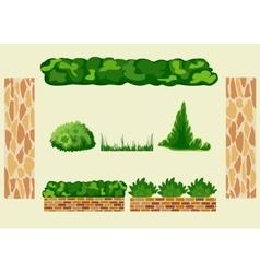 Set for landscape design vector