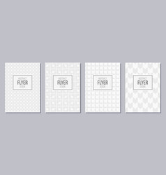 Set of flyer posters banners placards brochure vector