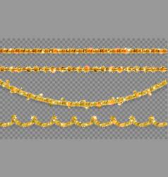 Shine gold tinsel vector