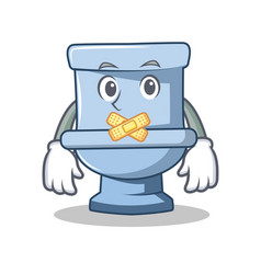 Silent toilet character cartoon style vector