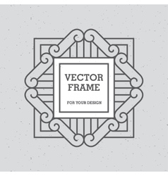 Single Mono Line Frame vector