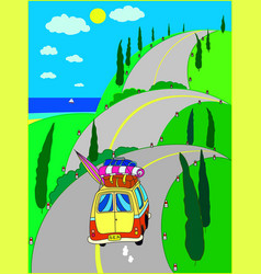 summer vacation season trip vector image