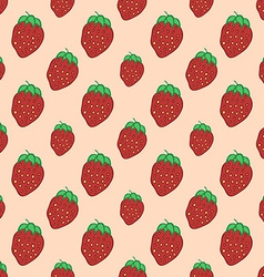 Sweet Red Strawberry - seamless pattern vector image