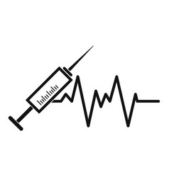 syringe icon simple style vector image vector image