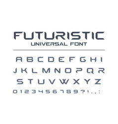Technology universal font geometric sport vector