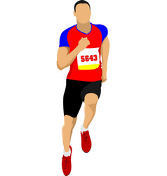 The running people vector