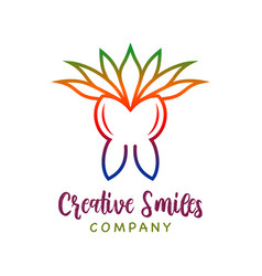 tooth health and cannabis leaf logo design vector image