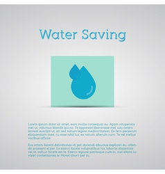 Water Saving poster Silver Background Minimalistic vector