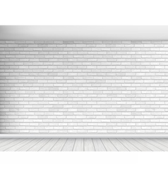 White brick wall background vector