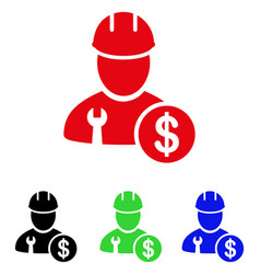 Worker salary icon vector