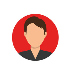 Young man profile vector