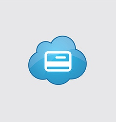 Blue cloud credit card icon vector image