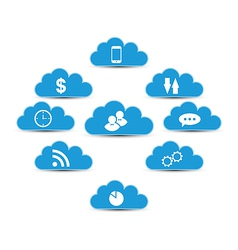 Cloud computing and technology infographic design vector image