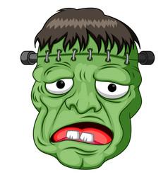 frankenstein head cartoon vector image