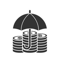 money under umbrella icon vector image