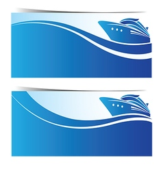 Cruise ship banner2 vector image