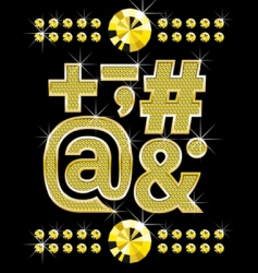 gold letters set vector image vector image