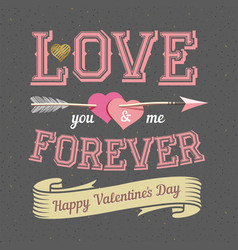 Happy valentines day card design inscription on vector