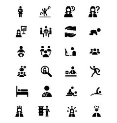 People Icons 3 vector image
