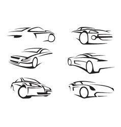 set of cars vector image vector image