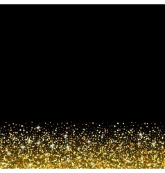 black background with gold glitter sparkle vector image vector image