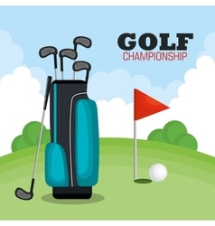 Golf championship sport icon vector