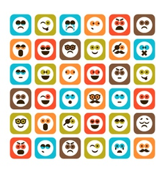 set of emotional icons vector image
