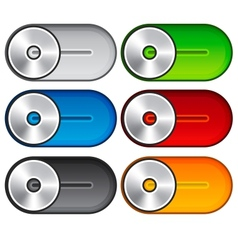 Set of metallic switches vector image