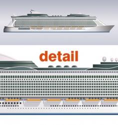cruise ship illustration vector image vector image