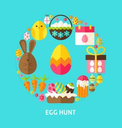 egg hunt postcard vector image