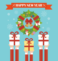 happy new year modern concept flat design vector image vector image