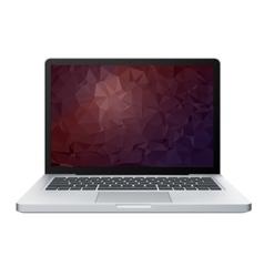 Laptop screen display vector image