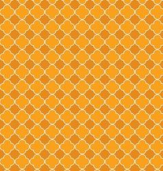 Quatrefoil orange vector image